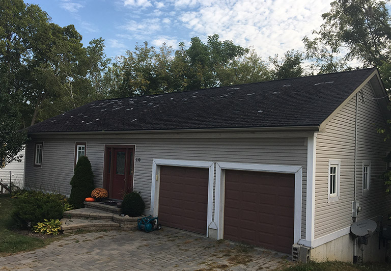 Landmark Roofing Inc. before and after